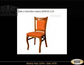 Židle AVIS-pevné masivní výrobky
