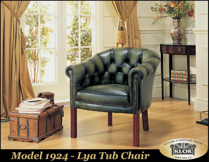 1924 Lya Chair Tub-Vystaven v Č.B.