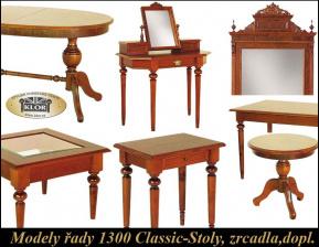 Modely řady 1300 CLASSIC Stoly, zrcadla, doplňky,