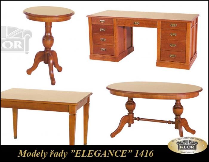 Modely řady 1400 ELEGANCE Stoly jídelní, stolky konf.
