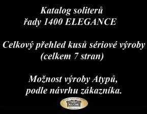 Katalog řady 1400 ELEGANCE Solitery /celkový přehled/