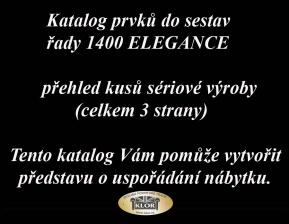 Katalog řady 1400 ELEGANCE   prvky do sestav