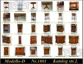 Modely komody-stolky řady 1800 D Made in Italy