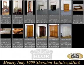 Modely řady 1000 SHERATON  Ložnice, skříně