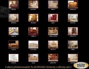 Celkový přehled modelů značky PIGOLI Nr. 20