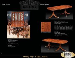 I.JAMES - řada 7907 až 7911 Jídelní stoly,židle