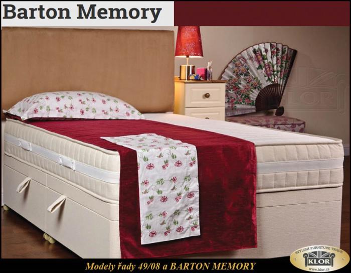 BARTON MEMORY - 4908 Anglické postele-Made in England