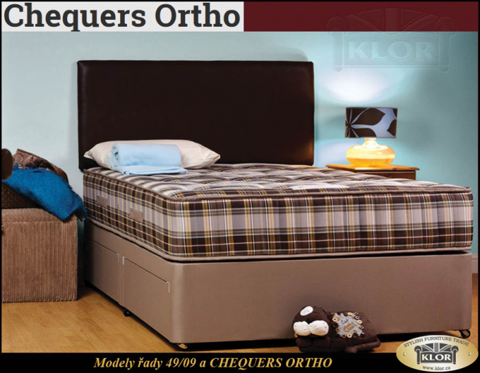 CHEQUERS ORTHO - 4909 Anglické postele-Made in England
