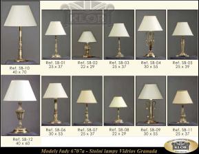VIDRIOS - Spanish lights - modely řady 6707 Stolní lampy Granada